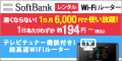 データ利用無制限!【SoftBankレンタルWiFiルーター】