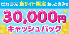 初期工事費無料+現金還元必ず25,000円キャッシュバック!【ピカラ光.com】