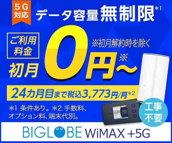 BIGLOBE_WiMAX2+_口座振替ができる