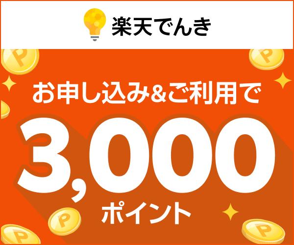 【期間限定】楽天でんき「高額ポイントプレゼント」キャンペーン